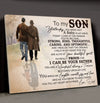 To my son canvas - You fill my heart with pride - Gifts for son from dad, Home decor wall art - 4023