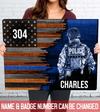 Personalized Custom Canvas - Half Flag Police Officer Suit - Gift For Son, Gift For Husband, Gift For Dad - 5752