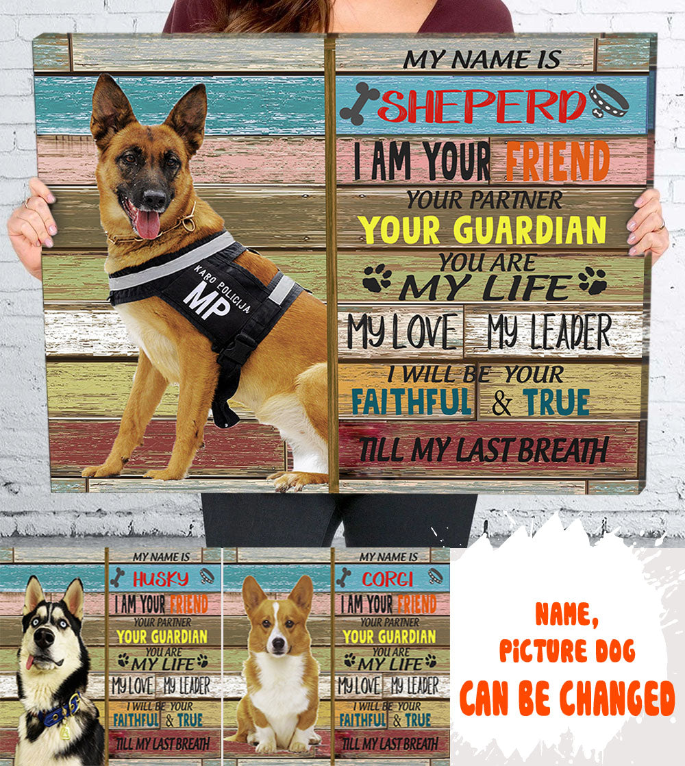 Personalized Custom Pet Canvas - I am your partner - Pet Gifts - Wall Art - 1815