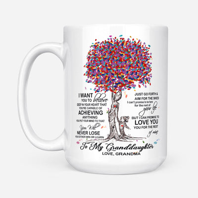 To my granddaughter coffee mug - You will never lose - Gift for granddaughter - Birthday gifts - Mug with quotes - 395