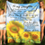 To my daughter fleece blanket - I feel so proud - Sunflower blanket - Gift for daughter from mother - Birthday gifts - 904