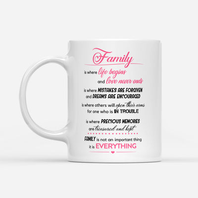Family coffee mug - Family is everything - Gift for family members - Birthday gifts, meaningful gifts - Mug with quotes - 58