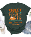 Women T-shirt - Sweet as Pumpkin pie - Fall Season - Autumn Fashion - 9847