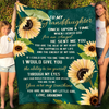 To my granddaughter fleece blanket, you are my sunshine blanket - Gift for granddaughter - Birthday gifts, blanket with quotes - 837