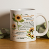 To my granddaughter coffee mug, sunflower mug - You are my sunshine - Gift for granddaughter - Birthday gifts - Mug with quotes - 122