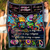 Fleece Blanket - Peace Is My Weapon - Blanket For Hippie, Blanket With Quotes - 7143