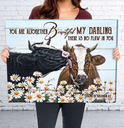 Matte Canvas - You are altogether beautiful, My Darling - Farmhouse Style Wall Art Decoration - 2855