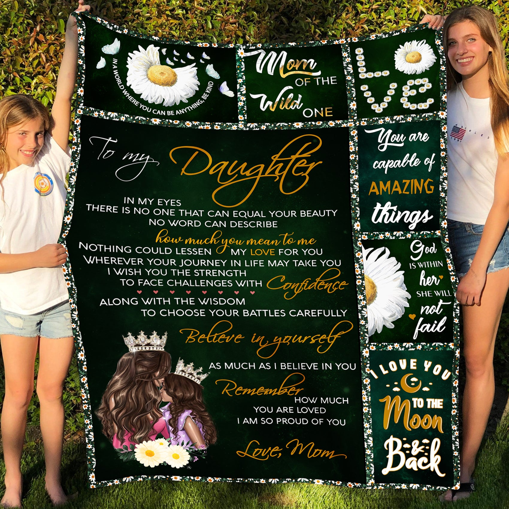 To my daughter fleece blanket - My love for you - Gift for daughter from mom - Birthday gifts, blanket with quotes - 783