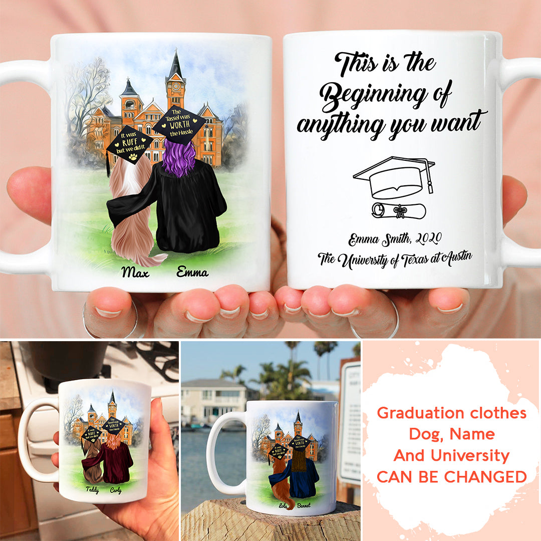 Personalized Custom Coffee Mug – This Is the Beginning Of Anything You Want – Gift For Daughter, Graduation Mug, Mug with Quotes