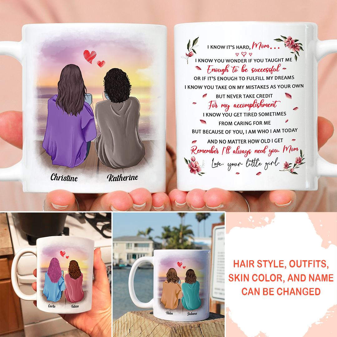 Personalized Custom Coffee Mug - I'll always need you, Mom - Gifts for Mom from Daughter - 5639