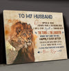 Husband Wife - Happily Ever After - Couple canvas, Gift from Wife to Husband - Home decor Wall art - 4839