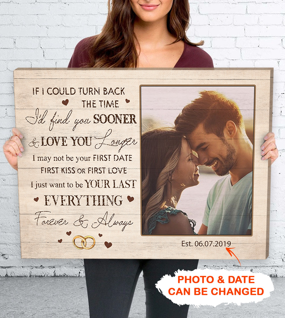 Personalized Custom Photo Canvas - Forever & Always - Gifts For Him, Gifts For Her - Anniversary Gifts, Valentine's Day Gifts - 9431