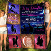 To my daughter fleece blanket - Got Your Own Wings - Gift For Daughter From Mom, Birthday gifts, Blanket With Quotes - 8023