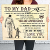 Son to Dad - Canvas - My Dad, my Hero - Home Decor, Wall Art, 5047