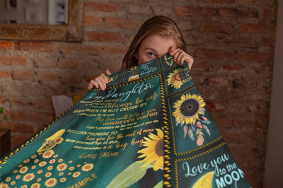To My Daughter Fleece Blanket - My Love Will Follow You - Gift For Daughter From Mother - Blanket With Quotes - 871