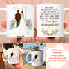 Personalized Custom Coffee Mug - I love you forever and always - Wedding Mug, Personalized Engagement Gifts, Newlywed Gifts - 6088