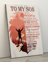 Matte Canvas - To My Son - Stay Confident - Gift For Son From Dad - Wall Art Decoration - 1175