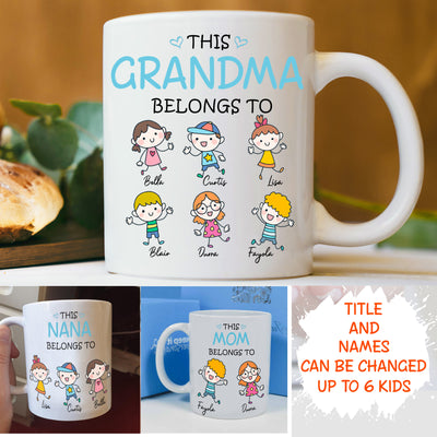 Personalized Custom Coffee Mug - This one belongs to - Gift for Papas, for Moms & Dads - 5895