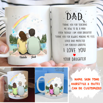 Personalized Custom Coffee Mug - Father's Day - Gift For Dad, Custom Mug, Mug With Quotes, Birthday Gifts - 9240