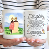 Personalized Custom Coffee Mug - The Gift of My Life - Gift for Daughter from Mother - Mug with Quotes, Birthday Gifts - 9720