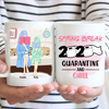 Personalized Custom Coffee Mug - Quarantine And Chill - Gift For Daughter From Mom, Social Distancing, Quarantine Mug, Funny Mug - 7592