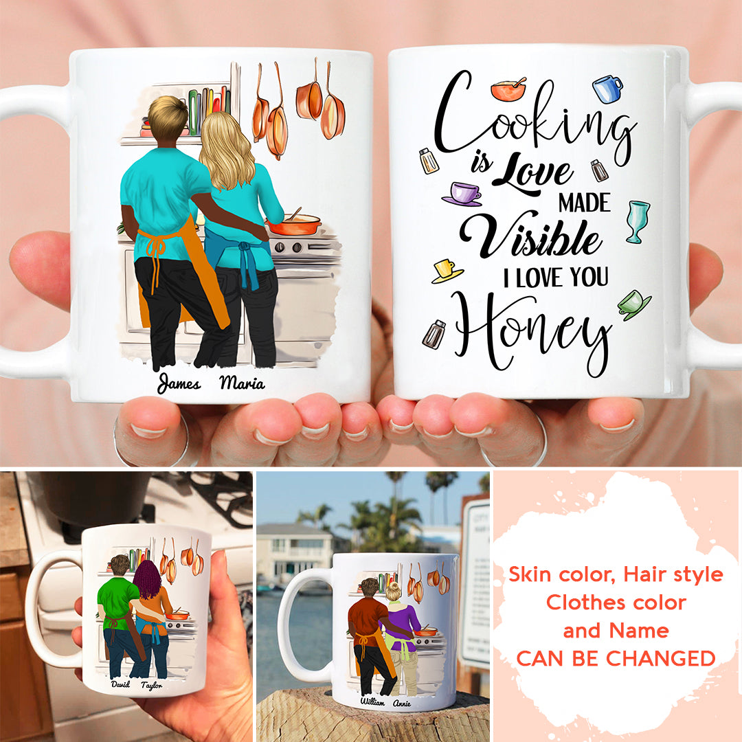 Personalized Custom Coffee Mug – I Love You Honey - Gift For Her, Gift For Him, Couple Gifts - 5912