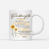 Personalized Custom Coffee Mug – Keep Your Face To The Sunshine - Gift For Adult Granddaughter From Grandma, Sunflower Mug, Birthday Gifts - 7128