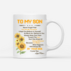 Personalized Custom Coffee Mug, Sunflower Mug - You Are My Sunshine - Gift For Son From Mother Birthday Gifts Sunflower