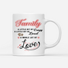 Personalized Custom Coffee Mug - Fur Family , Family a Little Bit of Crazy - Gift for Dog Parents, Mug with Quotes, Birthday Gifts - 8104