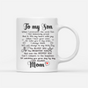 Personalized Custom Coffee Mug - Always Be My Little Boy - Gift For Son From Mother, Mug With Quotes, Birthday Gifts - 2248