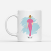 Personalized Custom Coffee Mug - Wear Scrubs - Female Nurse Version - Gift For Nurse, Nurse Mug, Birthday Gifts - 2392