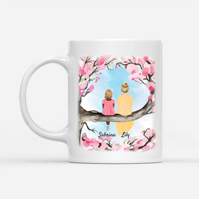 Personalized Custom Coffee Mug – Once Upon A Time – Gift For Daughter From Mother, Flowers Mug, Mug With Quotes, Birthday Gifts - 3096