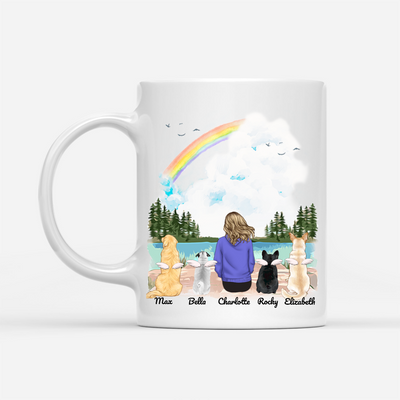 Personalized Custom Dog Coffee Mug - Life Is Better With Dogs - Gift For Dog Mom, Dog Lover, Dog Owner - Birthday Gifts, Mug With Quotes - 3160