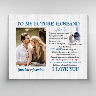Personalized Custom Photo Canvas - My Soulmate - Gifts For Him - Anniversary Gifts, Valentine's Day Gifts - 3975