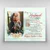 Personalized Custom Photo Canvas - Happy Father's Day - Father's Day Gifts, Gifts For Him, Gifts For Husband - 3975