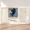 Personalized Custom Photo Canvas - Happy Father's Day - First Father's Day Gifts, 1st Fathers Day, Presents For New Dad - 7335