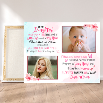 Personalized Custom Photo Canvas - Once Upon A Time - Gifts For Daughter From Mom, Birthday Gifts - 7319