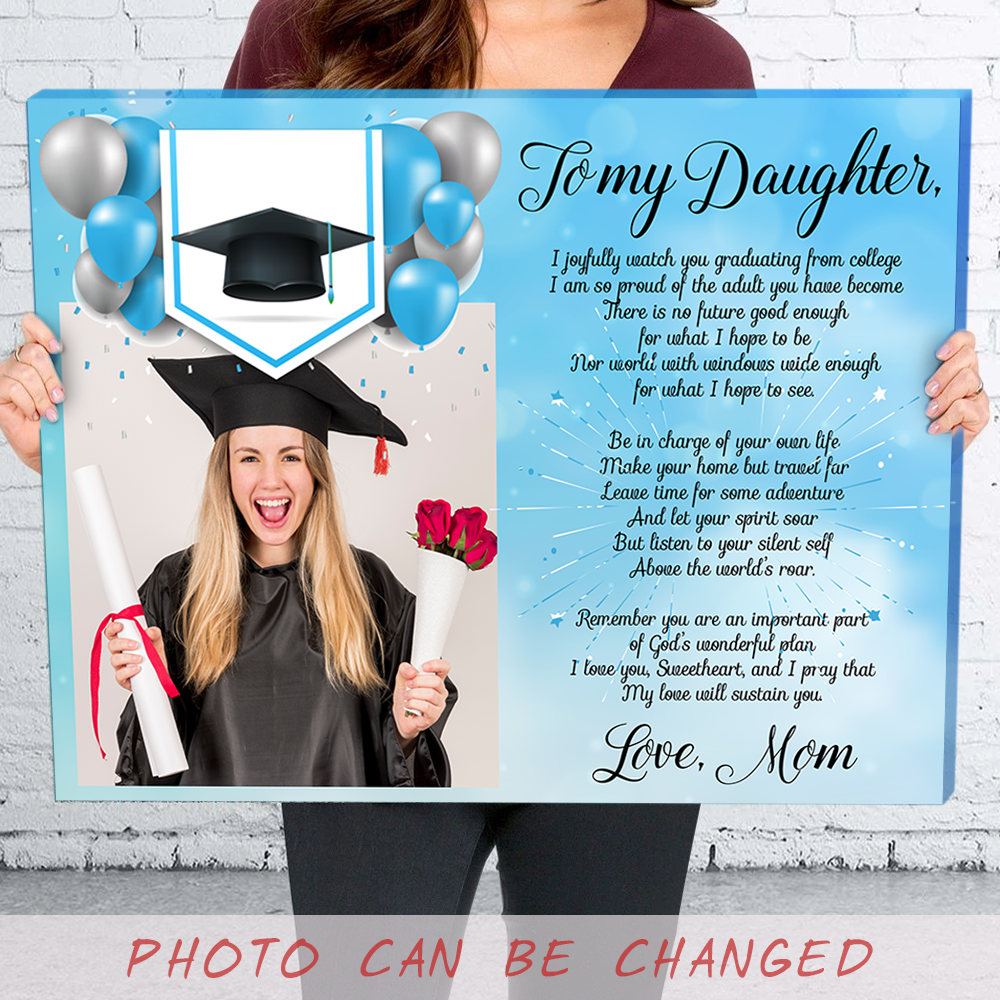 Personalized custom canvas - Daughter Graduation Canvas - Class of 2020 - Gift for daughter from Mom - 1207