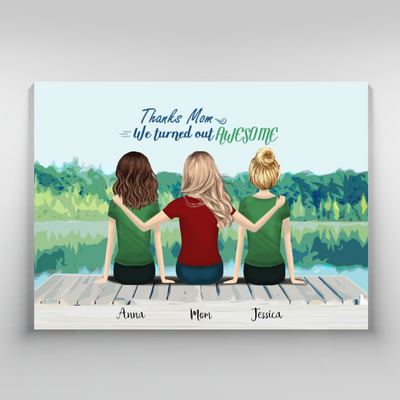 Personalized Custom Canvas - Wall Art, Gift for Mom, Birthday Gift, Mother Day Gift - 3912