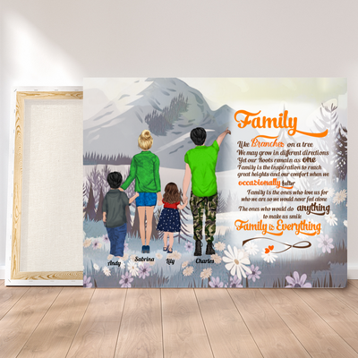 Personalized Custom Canvas - Family Is Everything - Room decor, family gift, wall art - 8968