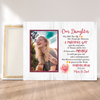 Personalized Custom Canvas - Daughter Mom & Dad Our child, our life, our dream for tommorow - Photo Canvas, Gifts for Daughter - 1767