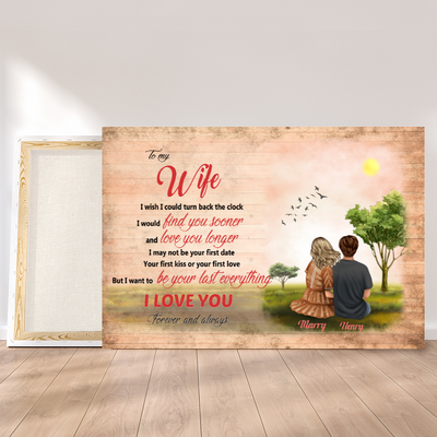 Personalized Custom Canvas - To My Wife - Gift From Husband, Couple Gift, Birthday Gifts - 6072