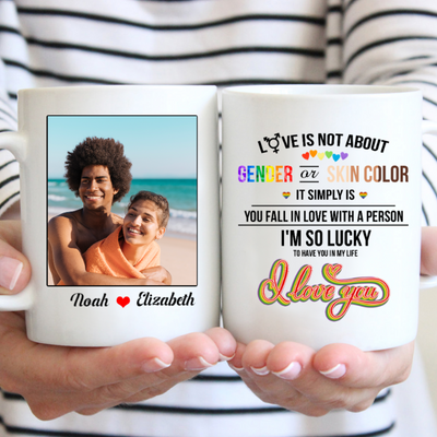 Personalized Custom Coffee Mug - LOVE - Gifts For Him, Gifts For Her, Gifts For LGBT - 0471
