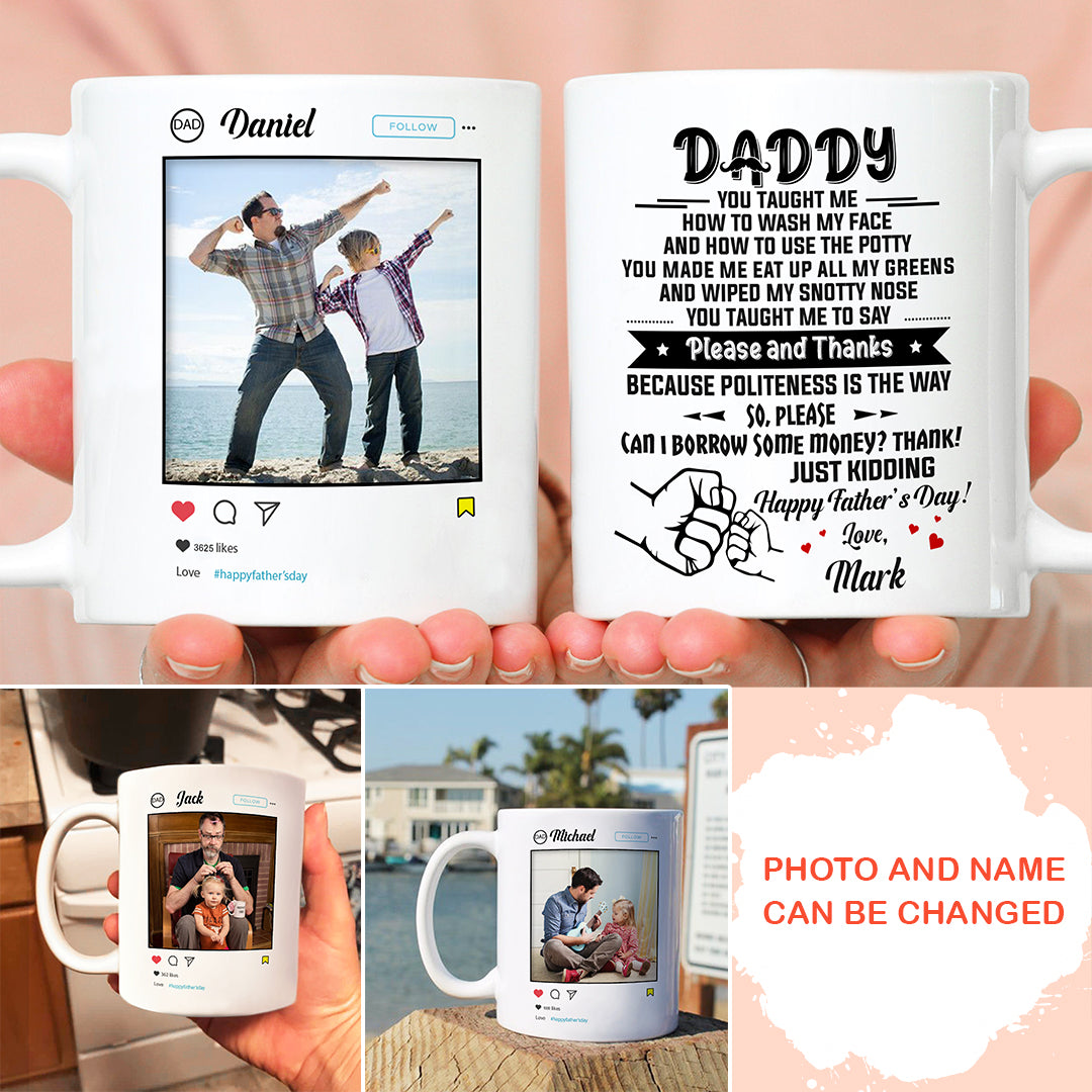 Personalized Custom Coffee Mug - Happy Father's Day - Funny Mug for Dad - Gift for Dad - 7911