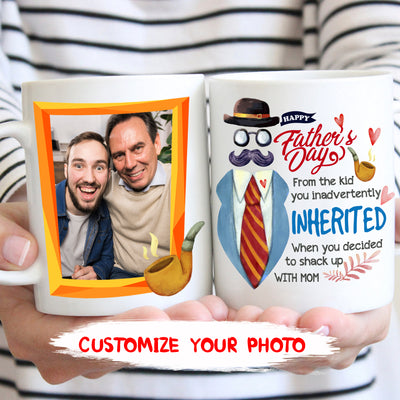 Personalized custom coffee mug - Happy Father's Day - Step Dad gift - Father's Day gift - 5736