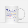 Personalized Custom Coffee Mug - Granddaughter Grandma - I love you to the moon and back - Gift for Granddaughter - 0375