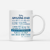 Personalized Custom Coffee Mug – To My Amazing Dad – Gift For Dad From Daughter, Father's Day Mug, Presents For Dad - 4647