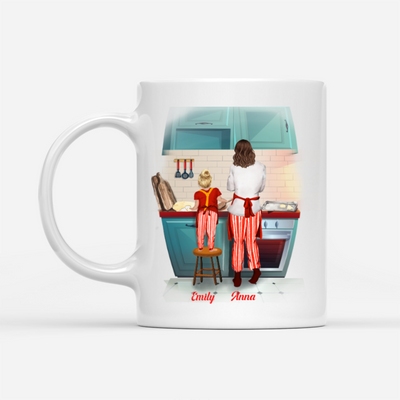 Personalized Custom Coffee Mug - Mother and Daughter, Best friend for life - Gift for Mom, Daughter - 1671