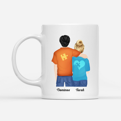 Personalized Custom Mug - My Man, My Missing Piece - We Are A Team - Mug with Quotes, Gift For Couple - 9256