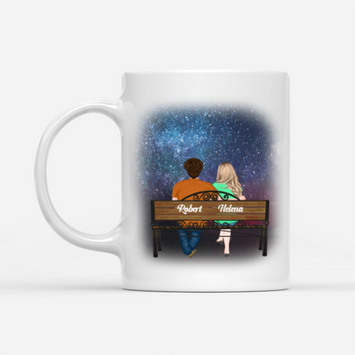 Personalized Custom Mug - My Man My Soulmate - Couple with Starry Night - Gift for Lover, Mug with Quotes, Romantic Quotes - 6824